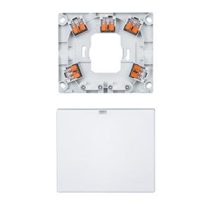 Herd- und Geräteanschlussdose AP mit 2 Ausgängen und Steckklemmen, polarweiß
