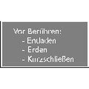 MAS-B-12, Gebotszeichen gemäß ISO 3864 Vor berühren (Entladen, Erden, Kurzschließen) VE Preis per VPE  VPE =10