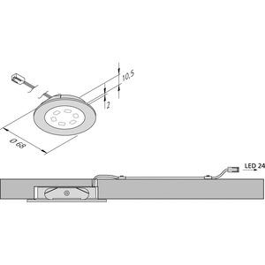 R 55-LED 3W ww edelstahloptik