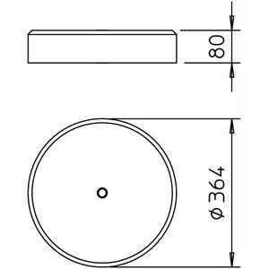 F-FIX-S16, Standfuß für FangFix 16kg, BET