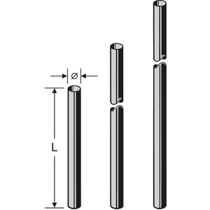 ZAS 05 Mast 48 x 2000 mm, Mast ZAS 05, 2,0 m, 48 mm