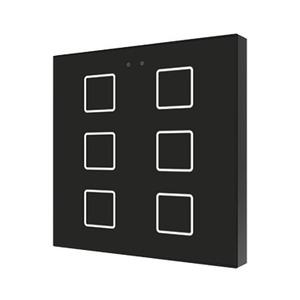 ZVI-F6-A, Zennio Flat 6 Kapazitive Taster mit Temperaturfühler, 6 Taste, schwarz