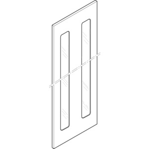 Ersatztür Bauhöhe 8 mit Sichtscheibe