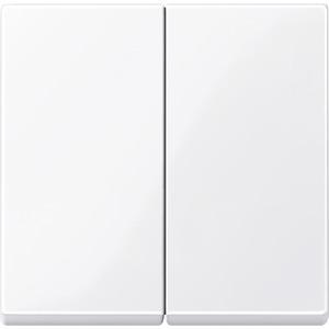 Wippe für Serienschalter, aktivweiß glänzend, System M