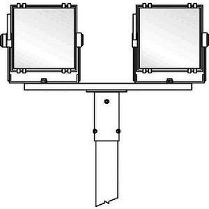TRAV 2/76, Überstecktraverse für 2 Fluter 1000mm lang für Zopfmaß 76, Typ Traverse 2/76