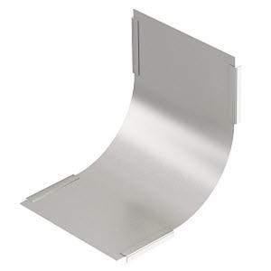 DBV 150 S A2, Deckel für Vertikalbogen 90° steigend B150mm, V2A, A2