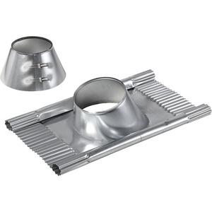 LWF DE 160 10 - 30, Dacheindeckung DN 160 für Dachneigung kleiner 30 Grad