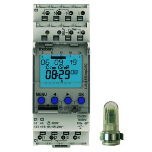 LUNA 122 top3 AL, Dämmerungsschalter mit Zeitschaltuhr, Aufbau-Lichtsensor, 2 Kanäle, RC-fähig
