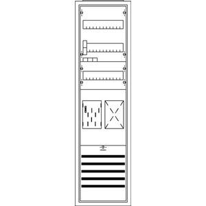 KS749, Komplettschrank, Aufputz mit BKE-I, 1/3A 1Z1R Schutzklasse II, Schutzart IP31