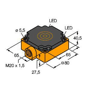 BI40-CP80-VP4X2, Induktiver Sensor, Standard