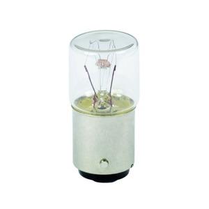 Glühlampe, transparent f. Befehls. u. Meldegeräte, BA 15d, 24 V 4 W