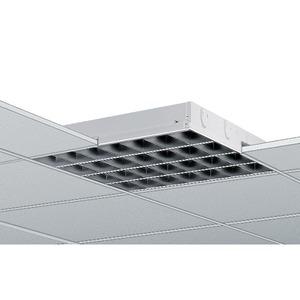 EBRE 158 SM-EVG, Einbauleuchte weiß, IP20, 1x58W, EVG, Parabolspiegelraster matt