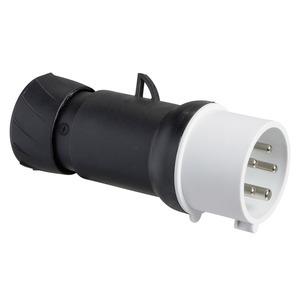 CEE Stecker, Schraubklemmen, 32A, 3p+N+E, 480-500 V AC, IP44