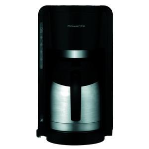 Edelstahl Thermo Kaffeemaschine, Schwarz / Edelstahl