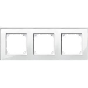 M-PLAN-Echtglasrahmen, 3fach, Brillantweiß