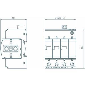 V25-B+C 3+NPE-FS, CombiController V25 3+1 mit Fernsignalisierung 280V