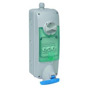 Anbausteckdose verriegelt, 63A, 2p+E, 200-250VAC, IP65
