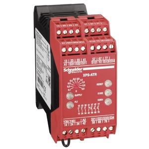 Sicherheitsbaustein Not-Halt, Stopp 0+1: 0,1-30 s, 7 Relais, 24 VAC/DC, Federzug