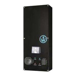 Wallbox SLIM-LINE RFID mit 2 Ladepunkten 1x Typ2 16A/11kW und 1x Schuko 16A/3,7kW und Basis-Monitoring-98210034