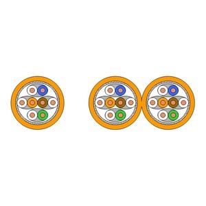 UC900 SS23 C7 S/FTP 2x4P LSHF 100DW, Kat.7,S/FTP,AWG23,8P,LSHF,100m,orange