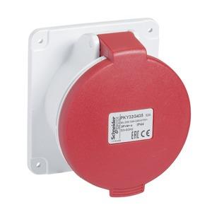 CEE Anbausteckdose Schneidklemmen, 32A, 3p+E, 380-415 V AC