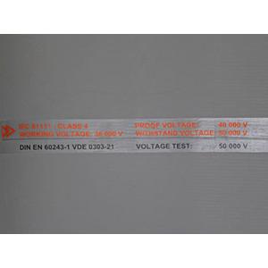 Gummimatte 1,0mx1,0mx4,5mm, 50.000V, gerieft