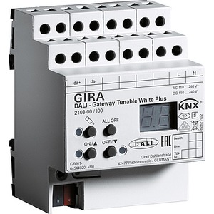DALI-Gateway Tunable WH Plus KNX REG