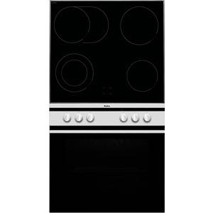 EHC 12714 W, Einbauherd-Set im Scandium Design, Weiß - best.aus:1 Multifunktionsherd Umluft+1 Glaskeramikkochfeld Schott Ceran ®
