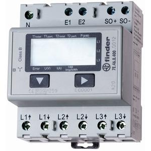 7E.46.8.400.0012, Zähler LCD, 1- und 2 Tarifzähler, für 3-Phasen Drehstrom, bis 65 A, S0-Schnittstelle, MID-konform