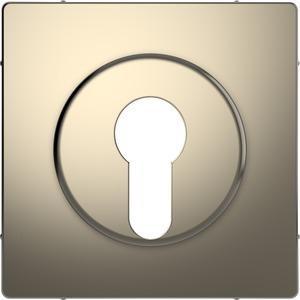 Zentralplatte für Wechsel-Rastschalter-Einsatz, Nickelmetallic, System Design