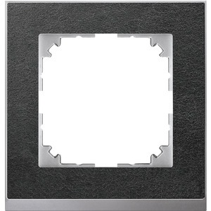 M-Pure Decor-Rahmen, 1fach, Schiefer/aluminium, M-Pure Decor