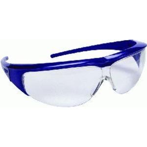 Klare Einscheiben-Schutzbrille schwarz mit flexiblen Kopfband