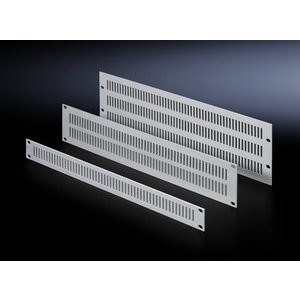 EL 2232.000, Belüftungsfrontplatten, aus Aluminium, Breite 482,6 mm (19), 2 HE, Preis per VPE, VPE = 3 Stück