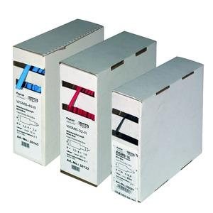 WSMB-24-2,4/1,2/S, Warmschrumpfschlauch 2,4/1,2 mm ohne Kleber. Mini-Box. 20m. Farbe: Schwarz