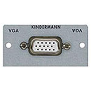 Anschlussblende mit Lötanschluss, VGA (HD15), Halbblende, Aluminium eloxiert