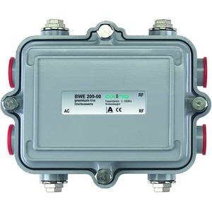 Einspeiseweiche AC, max. 65 V/10A, 5/8 Zoll-Anschlüsse, 5-1006 MHz, IP55