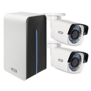 Videoüberwachungsset: Netzwerk WLAN Digitalrekorder +  2 WLAN Außenkameras