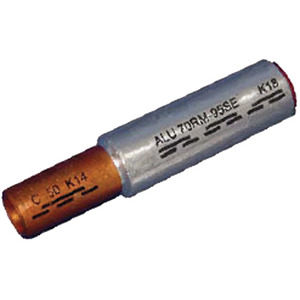 ICALCU3525V, Al/Cu Pressverbinder Al 35mm² rm/sm Cu 25mm² rm/sm bk