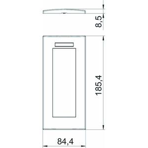 AR45-BSF3 RW, Abdeckrahmen Modul 45, 3fach 84x185mm, PC, reinweiß, RAL 9010