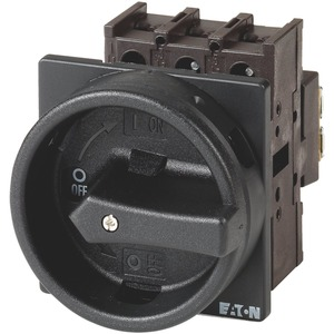 P1-25/EA/SVB-SW, Hauptschalter, 3-polig, 25 A, HALT-Funktion, abschließbar in 0-Stellung, Einbau