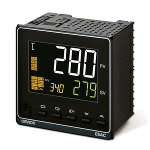E5AC-PR4A5M-004, Universalregler, 1/4 DIN, 3-Punkt-Schritt Ausgang, 4 Zusatzausgänge Relais, Universal-Eingang, 100…240 VAC, Option 004