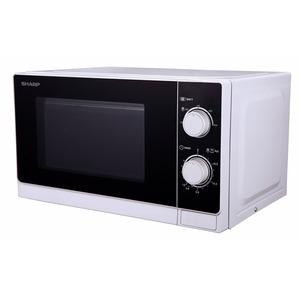 R-200 WW, Solo-Kompakt-Mikrowellengerät 800 W Mikrowellenleistung, 5 Leistungsstufen, mechanische Bedienung, 20 Liter-Garraum,Gerätefarbe: Weiß