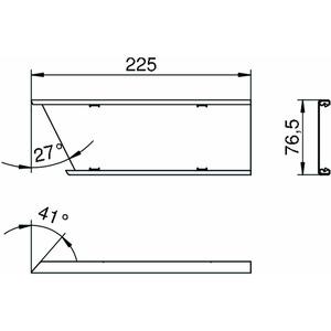 IOP3RW, Oberteil für Inneneck Pultkanal 80x300mm, St, reinweiß, RAL 9010