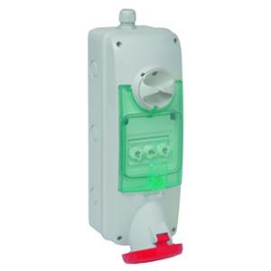 Anbausteckdose verriegelt, 63A, 3p+E, 380-415 V AC, IP65