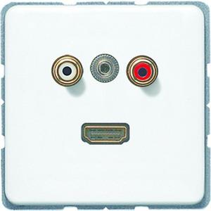 MA CD 1082 WW, Cinch Audio, Miniklinke3,5mm und HDMI, Tragring, Schraubbefestigung, bruchsicher
