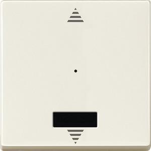 Wippe für Taster-Modul 1fach mit IR (Pfeile Auf/Ab), weiß, System M