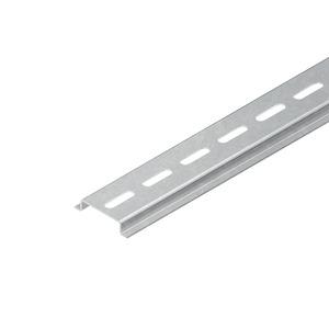 2933/2 SL, Tragschiene, Hut-Profil, 35x7,5x2000 mm, gelocht, Stahl, bandverzinkt DIN EN 10346