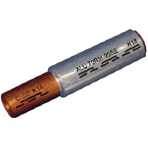 ICALCU5035V, Al/Cu Pressverbinder Al 50mm² rm/sm Cu 35mm² rm/sm bk