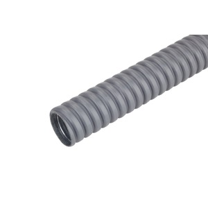 FFMSS-K 25 10 m, Schwerer Metallschutzschlauch FFMSS-K 25 10 m flexibel grau, Preis per Ring