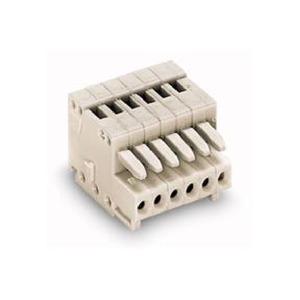 1-Leiter-Federleiste 100% fehlsteckgeschützt 0,5 mm² Rastermaß 2,5 mm 12-polig lichtgrau